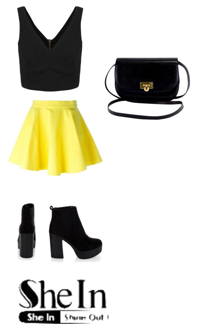 """Black V-Neck"" by mashabest16 ❤ liked on Polyvore featuring Jeremy Scott"