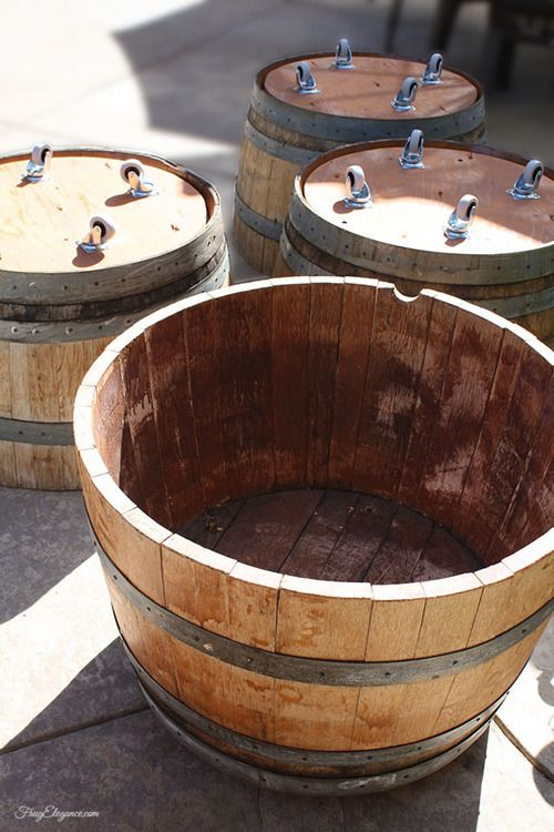 Half Wine Barrels Are Super Heavy Adding Wheels Is A Huge