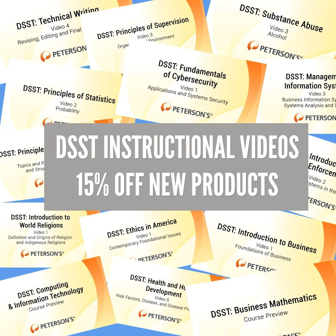 You may already be familiar with our DSST Practice Tests