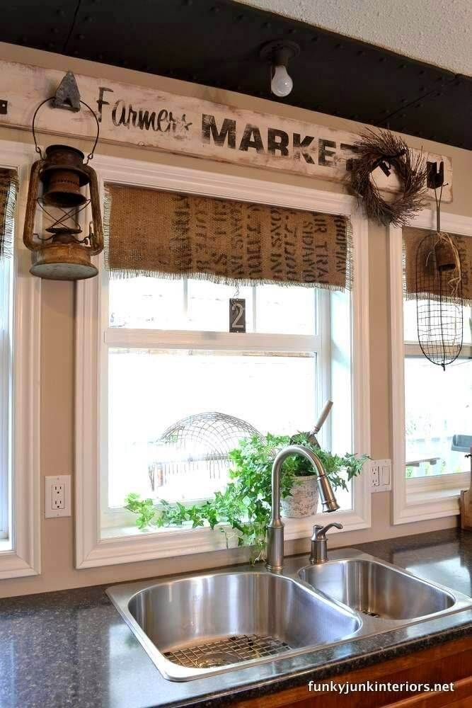 35 diy window treatment ideas that will transform your home with images kitchen window on farmhouse kitchen valance ideas id=94798