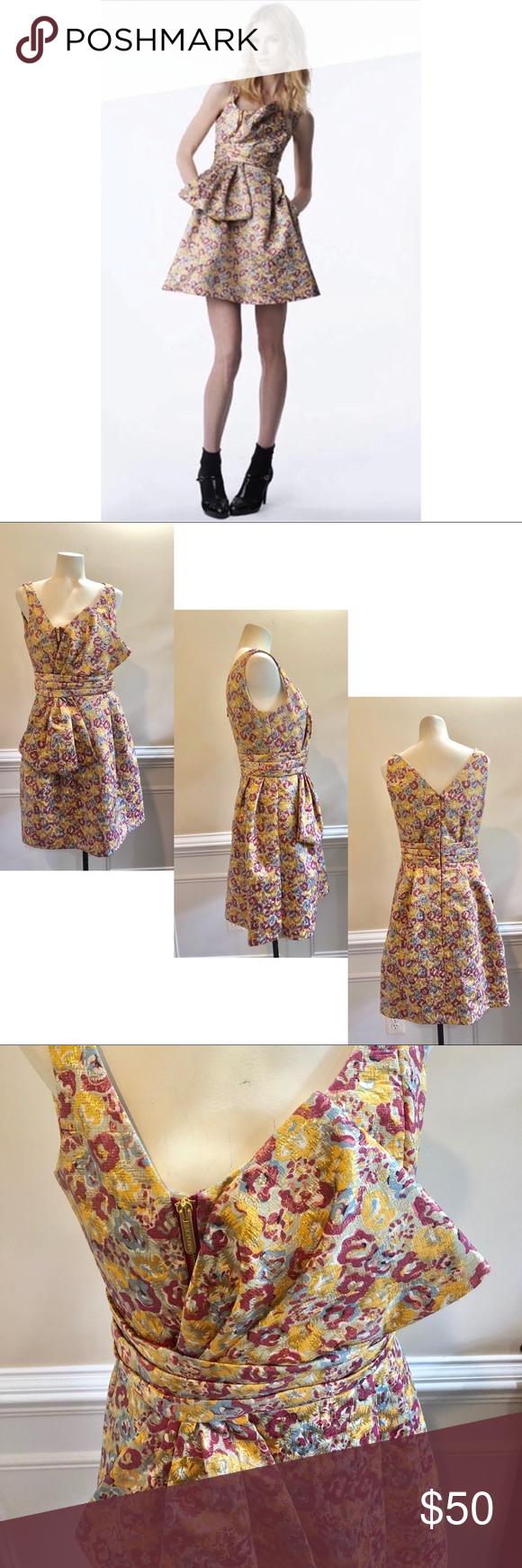 Zac Posen For Target Brocade Tie Mini Dress Zac Posen Mini Dress Mini Cocktail Dress [ 1740 x 580 Pixel ]