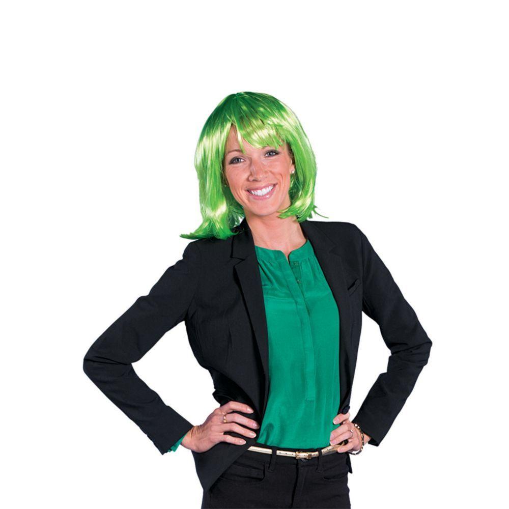 Green Neon Pageboy Wig