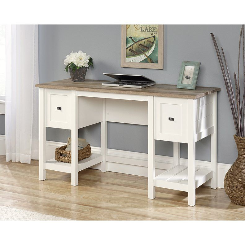 Antique White Home Office Desk Cottage Road In 2020 Office Desk Home Office Decor Home Office Furniture