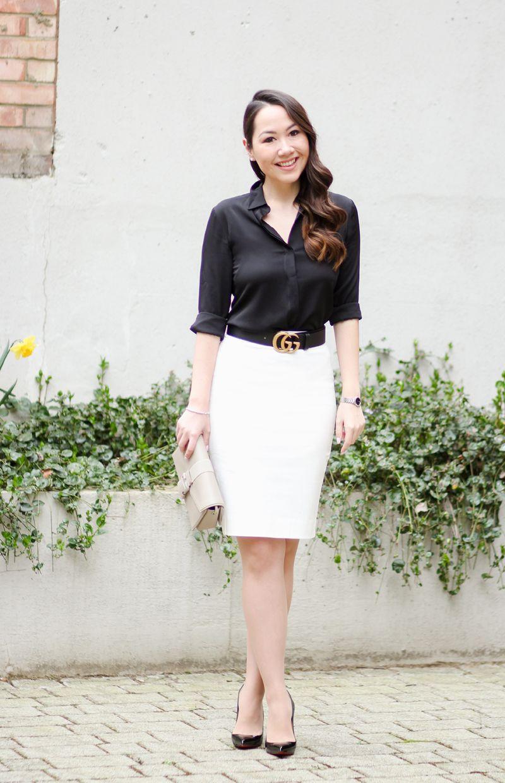 f20ec5ad03ae Monochrome Matching // Gucci Belt & Pencil Skirt - Chase Amie ...