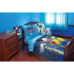 Disney Mickey Zero Gravity Toddler Bedding 4-Piece Set