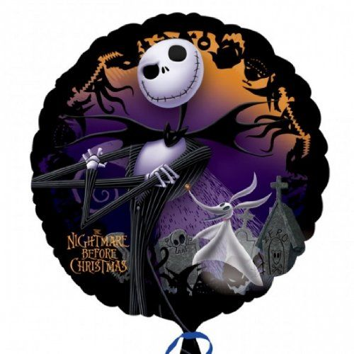 jack nightmare before christmas round edible image cake topper birthday decoration sugar sheet skellington sally halloween party quickly view this