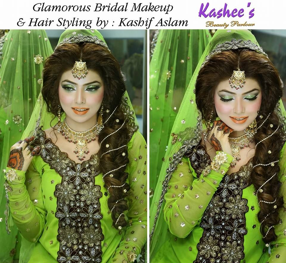 Http Www Sheparadise Com 2015 05 Bridal Makeup By Kashees Beauty Parlour Html Bridal Makeup Bride Hairstyles Half Up Hair