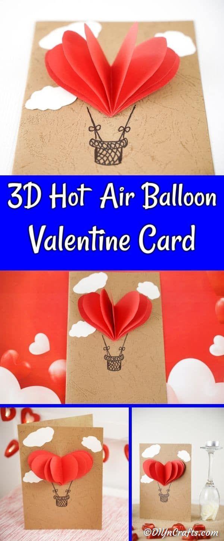 Photo of Unglaublich einfache 3D-Heißluftballon-Valentinstagskarte