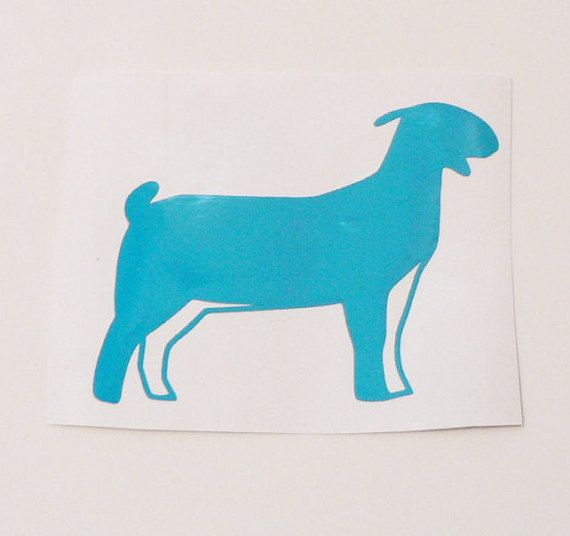 Check out this item in my Etsy shop https://www.etsy.com/listing/471105691/show-boer-goat-decal-steel-cup-decal