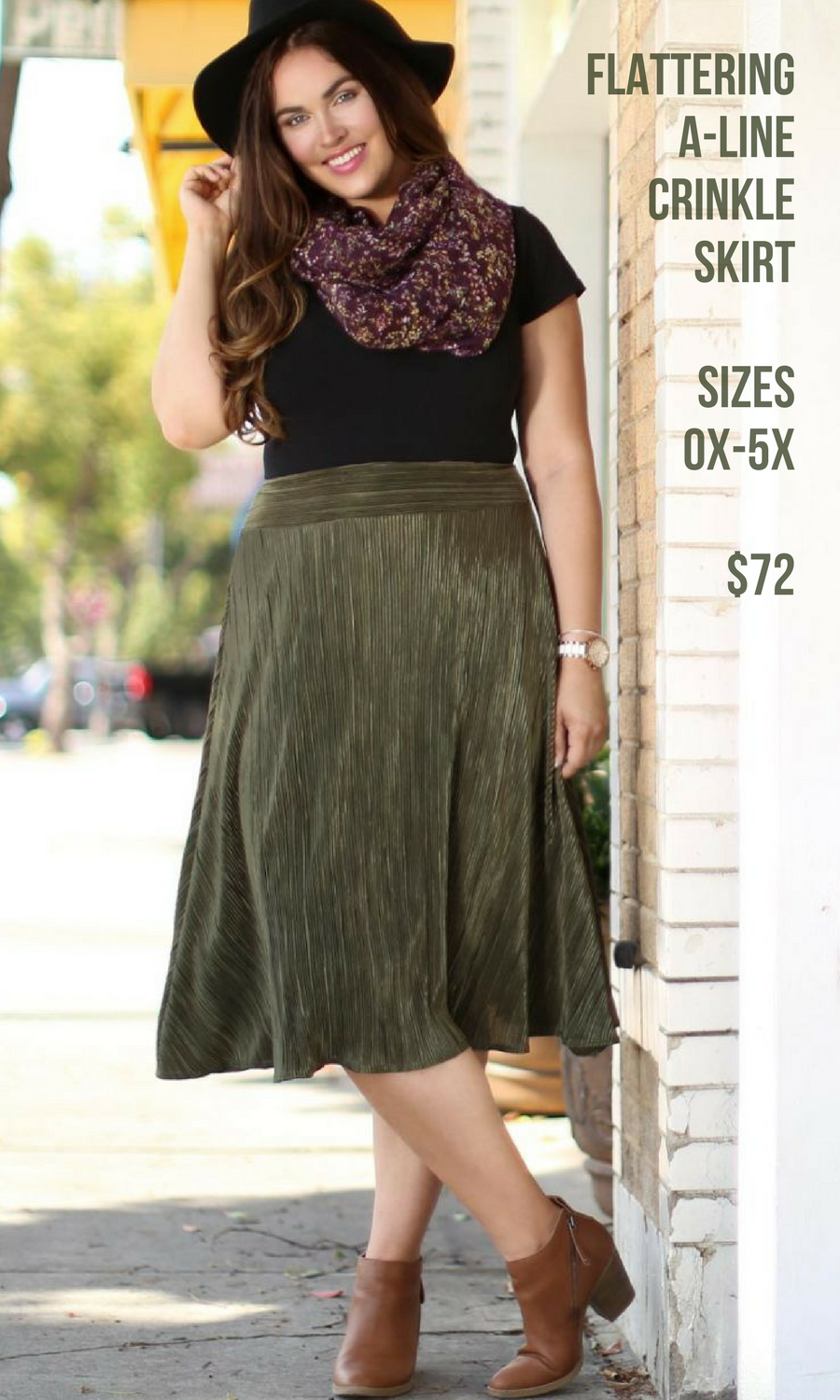 Cute crinkle skirt i really love this light olive green it looks