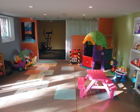 Fun Ideas for Kids Basement Playroom Kids basement, Playrooms and