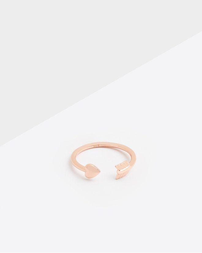 Cassea Cupid Arrow Heart Ring Heart With Arrow Jewelry