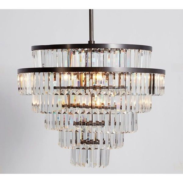 Pottery barn gemma crystal tiered chandelier 799 ❤ liked on polyvore featuring home