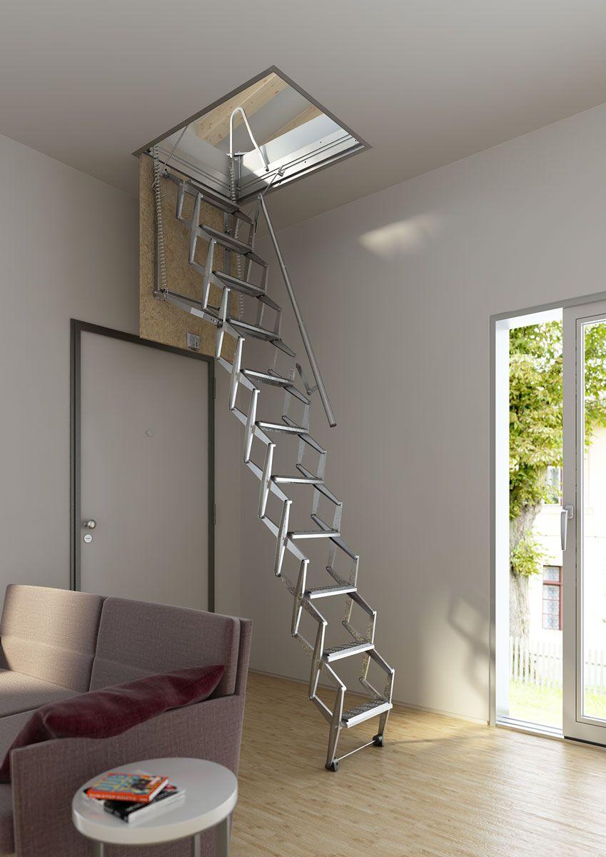 Escalera plegable para techo flexa altillo autom tica en 2019 sweet home pinterest altillo - Escalera plegable para altillo ...