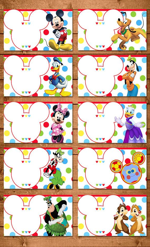 Mickey Mouse Food Tents Dots Chevron | Mickey Mouse ...