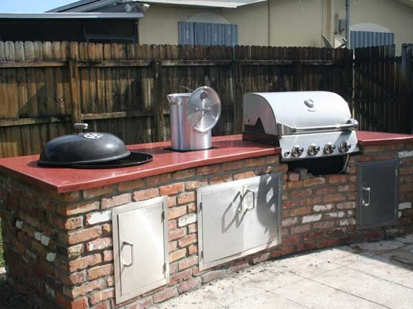Outdoor Concrete Project Gallery Built In Grill Outdoor Kitchen Concrete Countertops