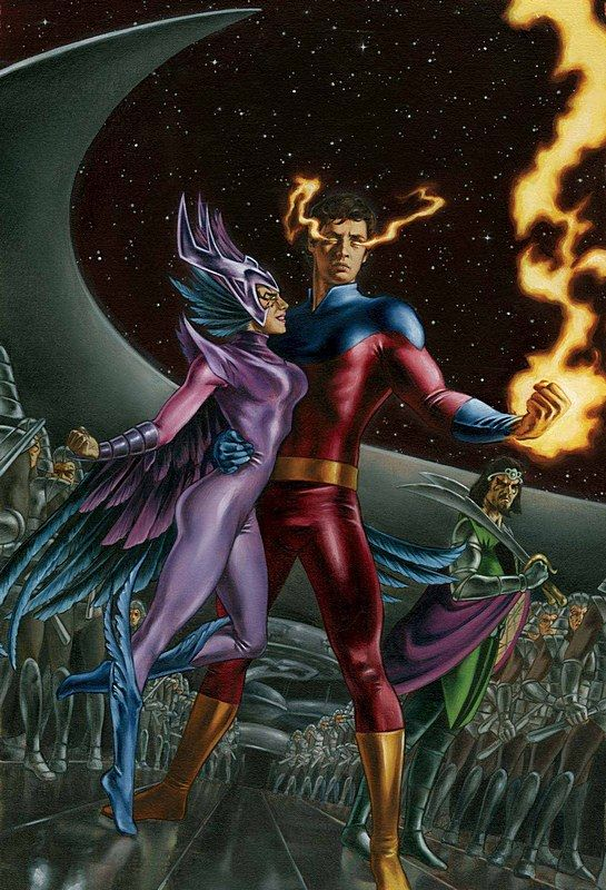 Emperor Vulcan & Empress Deathbird by John Watson | Marvel ...