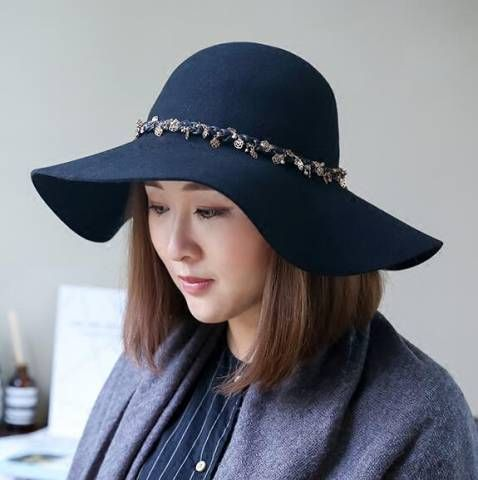 ba2d9daa04c Pin by BUYHATHATS LIMITED on Ladies wool floppy hat for winter ...
