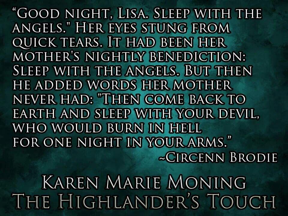 Highlander Quotes Glamorous Circenn Brodiethe Highlander Touch Quote  Reading  Pinterest
