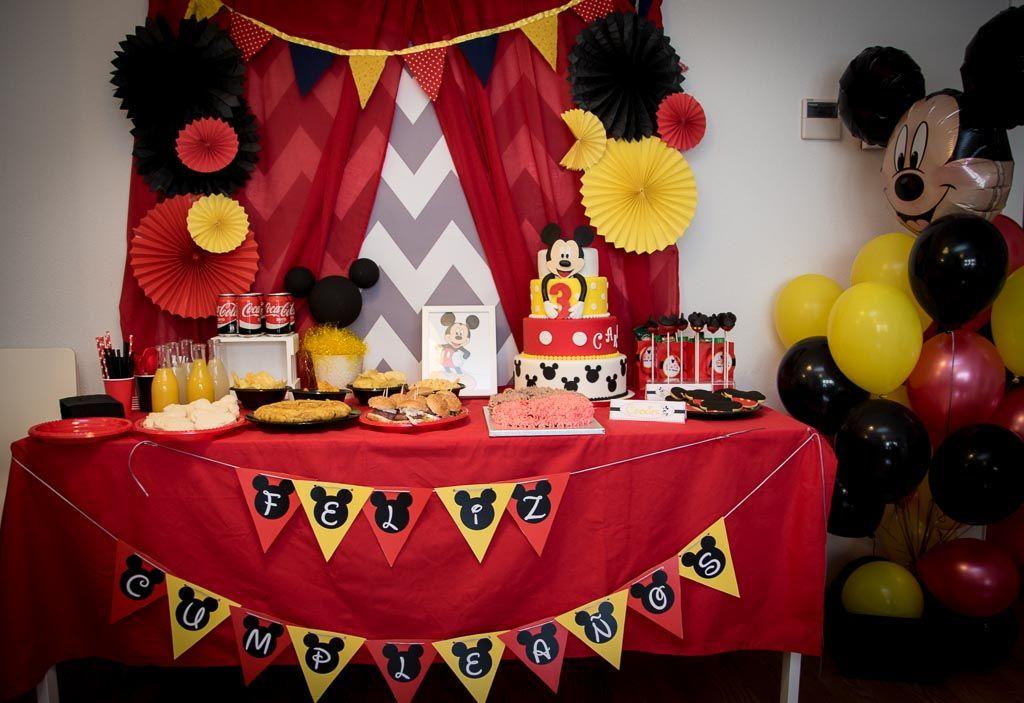 Decoraci n para cumplea os infantiles cumplea os de mickey mesa dulce mickey fiesta mickey Mesa de cumpleanos infantil