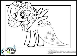 My Little Pony Fluttershy Coloring Pages Dream House Pinterest