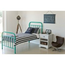 Gorgeous Mint Green Metal Bed Frame Available To Buy From