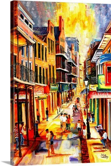 Mardi Gras Bourbon Street Painting