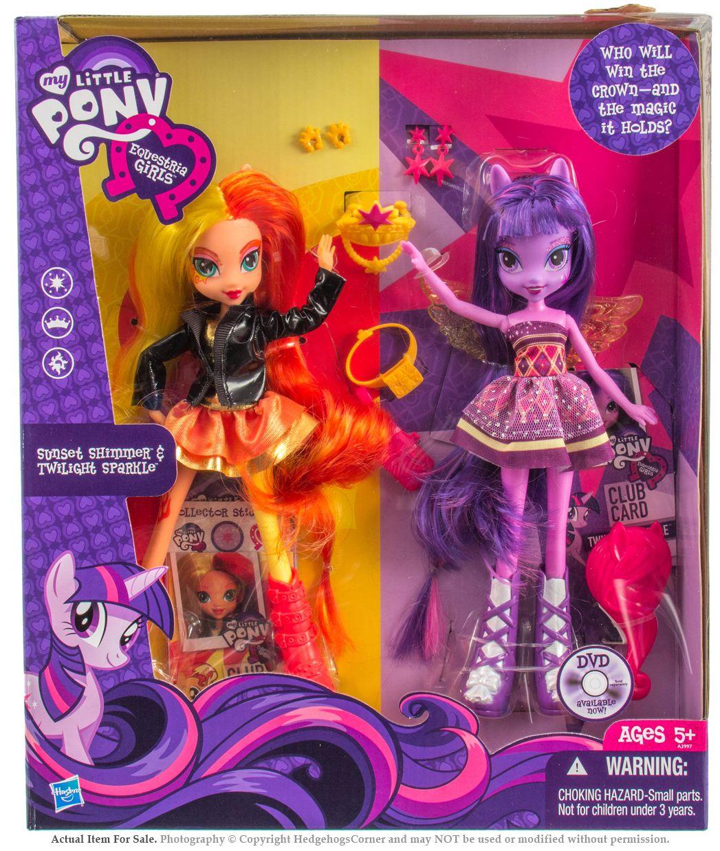 My Little Pony Equestria Girls Dolls Sunset Shimmer Twilight Sparkle
