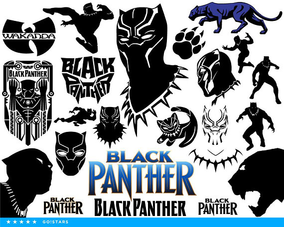 Black Panther Svg Clipart And Silhouette Different File Formats 22x Svg 22x Pdf 22x Png 22x Black Panther Party Costume Black Panther Party Black Panther