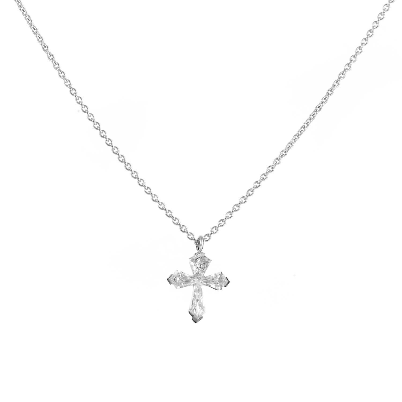 Graff Diamonds Gold Diamond Cross Pendant Necklace