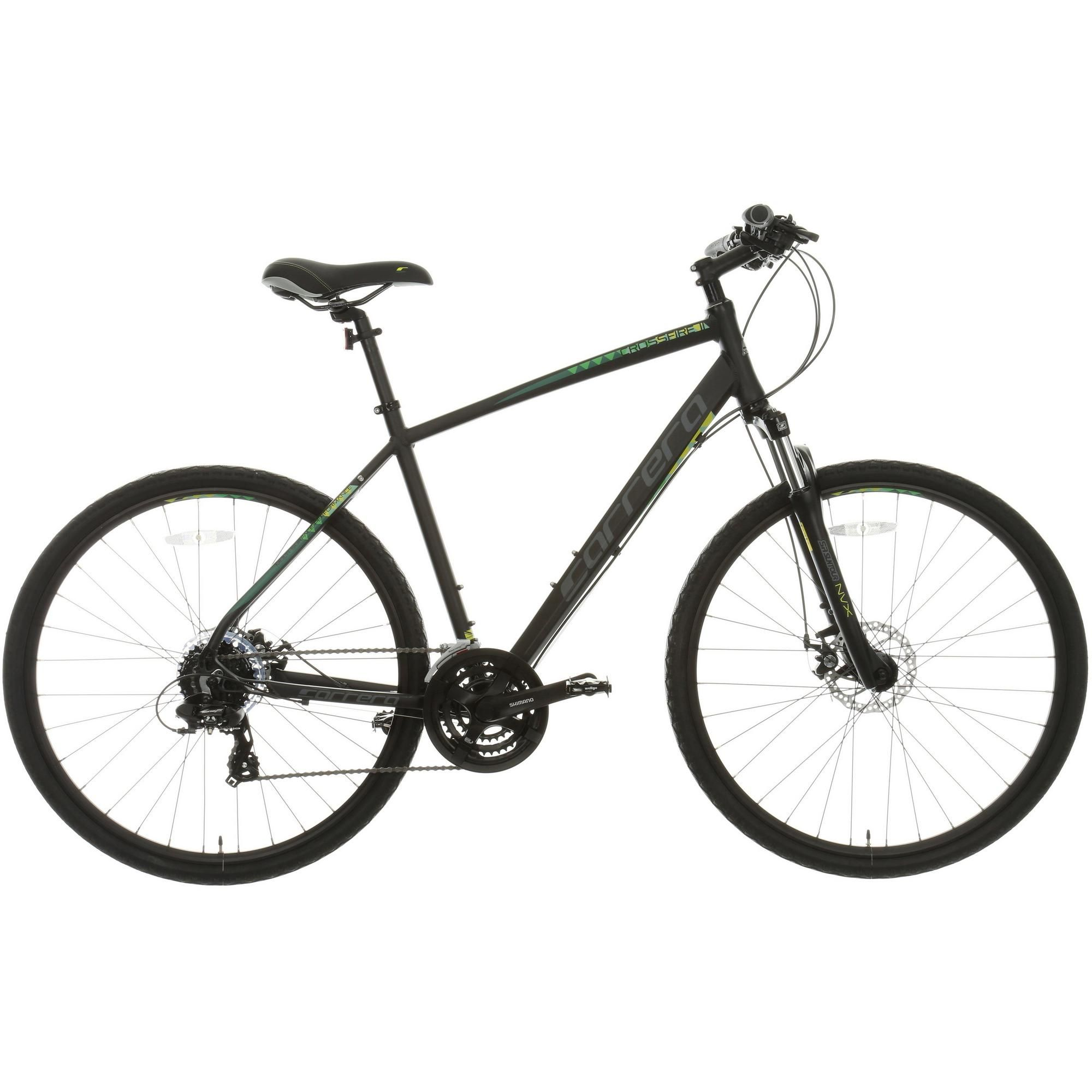 Carrera Crossfire 2 Mens Hybrid Bike Black 17 19 21 Frames