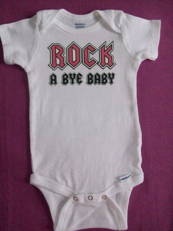 Heavy Metal Daddy Baby Onesie Shirt Shower Gift Dad Clothes Newborn Gerber