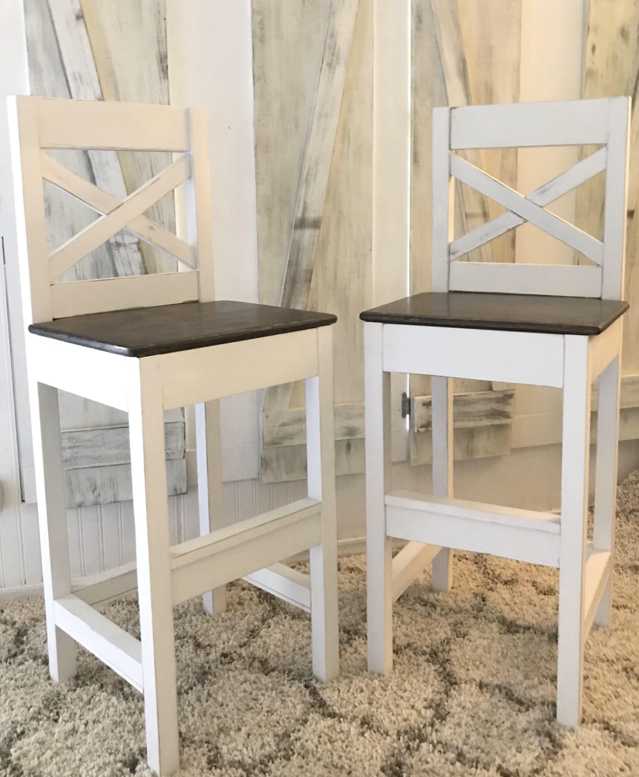Farmhouse Bar Stool by MOLACOWOODWORKS on Etsy https//www
