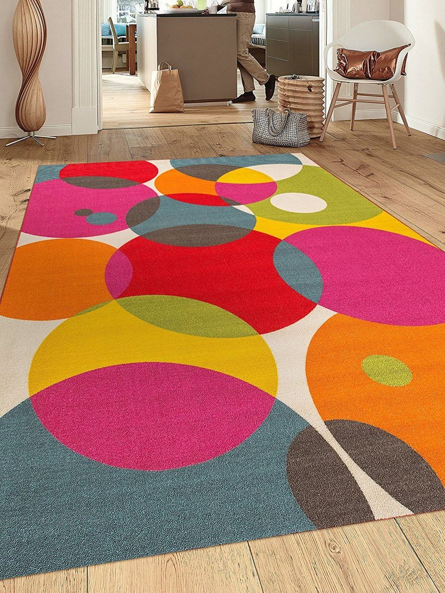 Multicolor Circle Non Skid Area Rugs Runners And Mats All Sizes