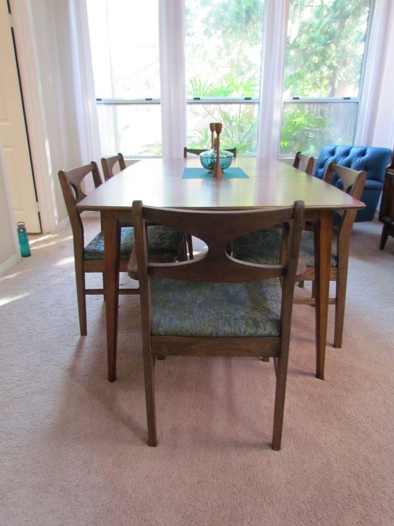 Lenoir By Broyhill FC Mid Century Modern / Danish Modern Dining Table And  Chairs Set Chairs / 2 Arm Chairs)