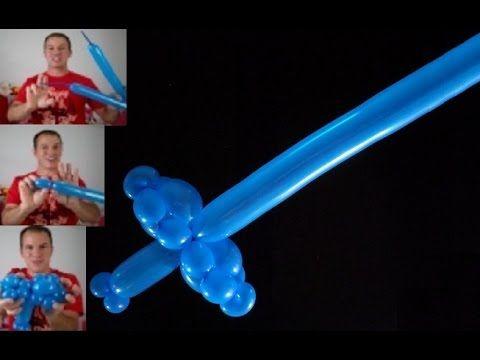 como hacer una espada fantastica con dos globos globoflexia espada