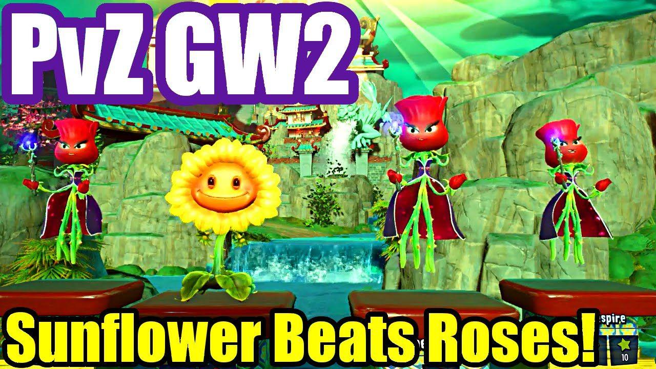 Plants Vs Zombies Garden Warfare 2 Sunflower Beats Roses Planting Roses Plants Vs Zombies Rose