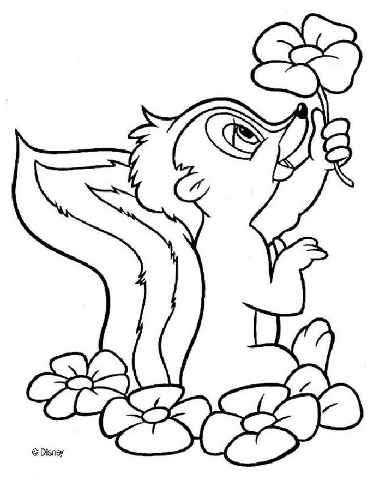 Bambi Coloring Pages For Kids Cartoon Coloring Pages Disney