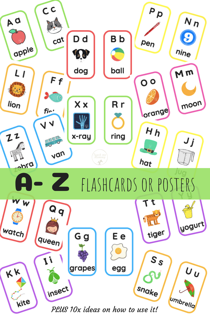 A- Z Alphabet Flashcards   Kids - Family - Home   Pinterest ...