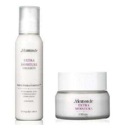 Korean Cosmetics Amorepacific Mamonde Extra Moist Moisturizing Care Lotion And Cream Set Extra Moisture Emulsion Details Mamonde Moisturizer Skin Care Kit