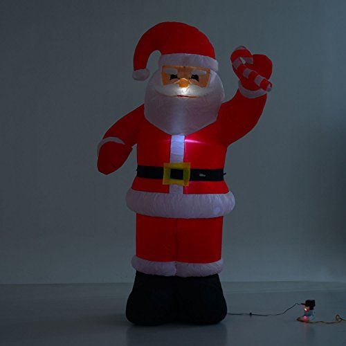 8ft Indoor/Outdoor LED Inflatable Holiday Christmas Yard Decoration - inflatable christmas yard decorations