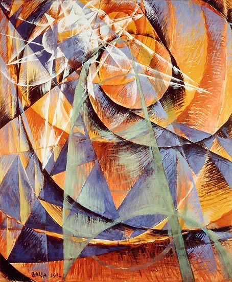 Giacomo Balla \/ Mercury Passing Before the Sun \/ 1914 \/ Tempera on - paper lined
