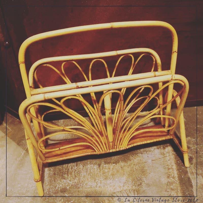 Nouveautealaciterne Un Porte Magazines En Rotin Petitprix Vintagestore Vintage Vannes Morbihan Myciterne Vintage Store Vintage Decor