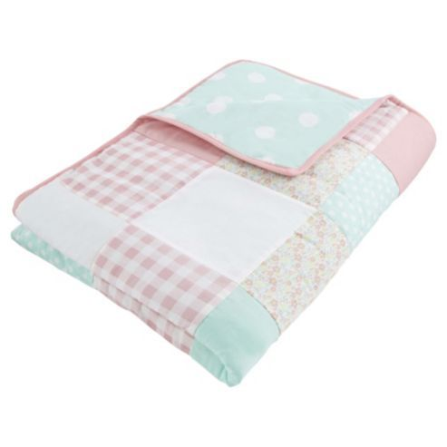 Tesco Kids Pretty Patchwork Throw | Tesco, Patchwork ...