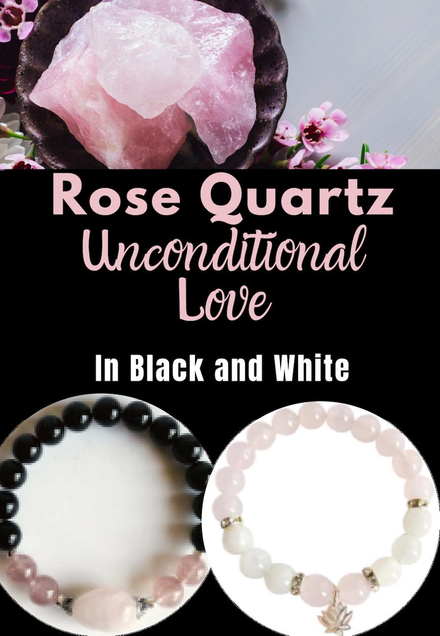 Tourmaline and Quartz Square Overlapping Black and White Beads