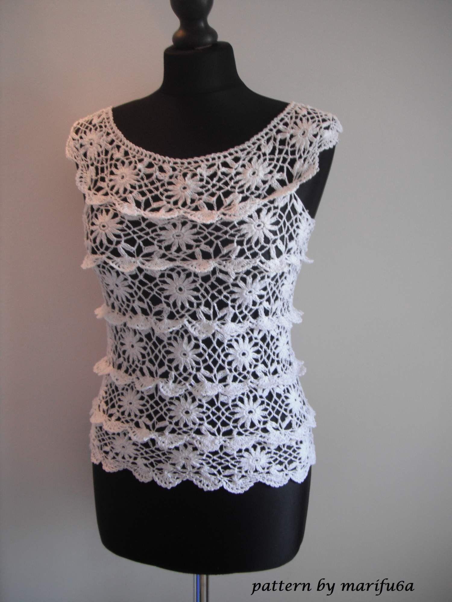 How to crochet ruffle blouse by marifu6a free crochet pattern how to crochet ruffle blouse by marifu6a free crochet pattern tutorial bankloansurffo Gallery