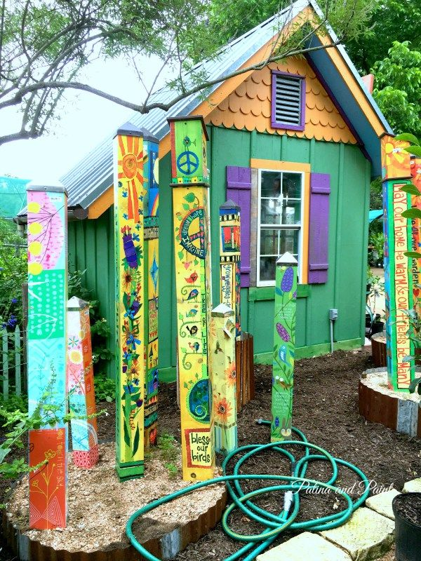 I want my art/yoga studio shed to look just like this! (with some ...