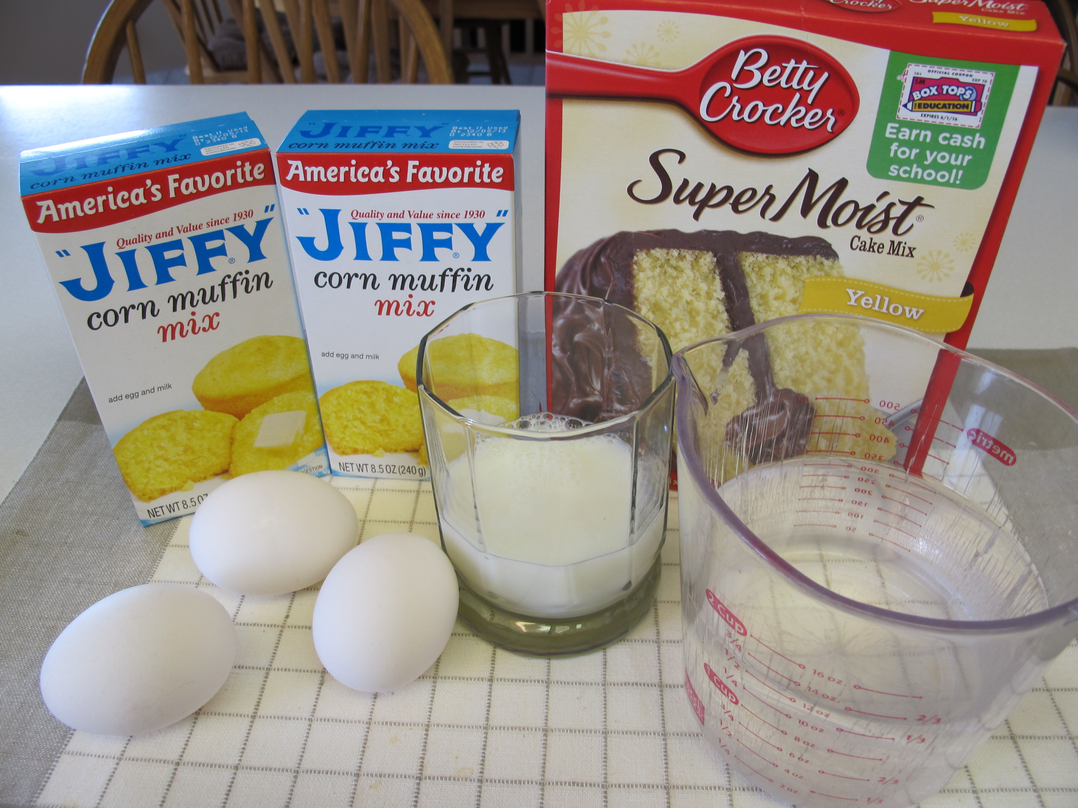 Sweet Corn Bread Combo Of Cake Mix And Cornbread Mix The