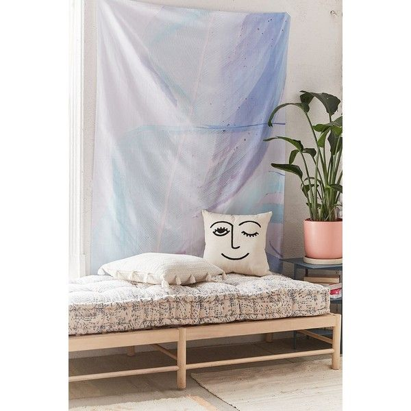 Cru Camera Artist Series Blue Palm Tapestry (\u20ac54) ❤ liked on