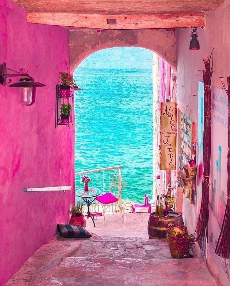 Pin By Www Poeticgarb Com On Take Me Away In 2020 Colorful Places Rovinj Pink Street